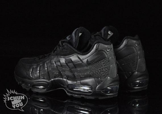 5582aab96b Nike Air Max 95 - Black - Black - Croc - SneakerNews.com
