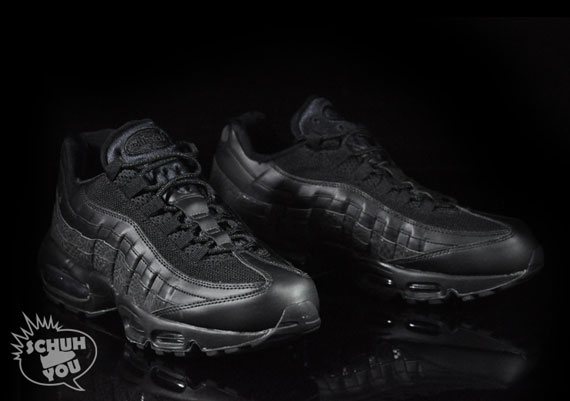 air max 95 all black leather