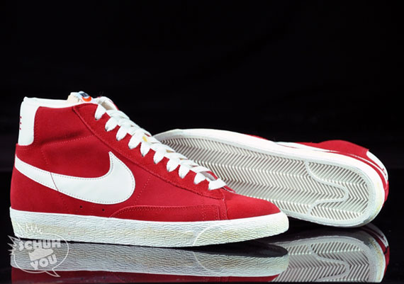 red suede nike blazers