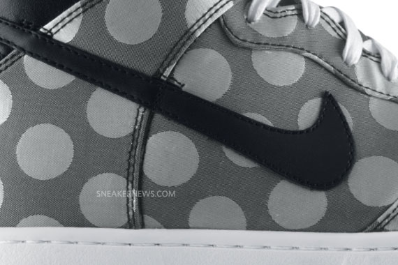 Nike Dunk High Supreme Black Matte Silver Polka Dot well-wreapped ... b7c7dbeb5843