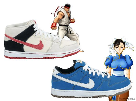 huge discount 92420 d2770 Nike SB Dunk - 'Street Fighter' Pack - Ryu + Chun Li - SneakerNews.com