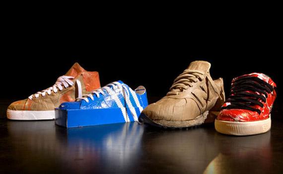 Out of the Box Sneaker Sculptures by Jurjen Semeijn