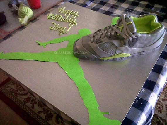 Air Jordan V Retro Green Bean Birthday Cake - SneakerNews.com