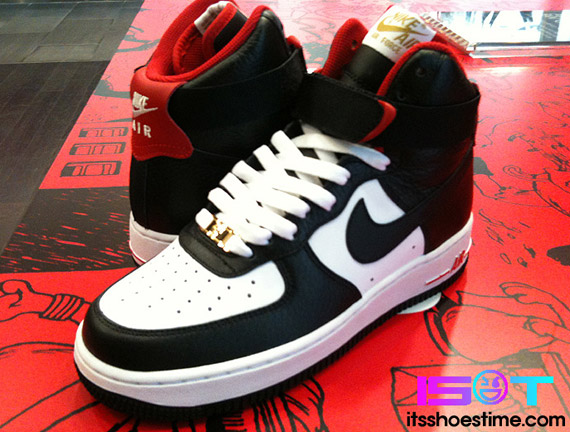 cheap for discount 323ab 7657d Nike Air Force 1 High - White - Black - Sport Red | Asia ...