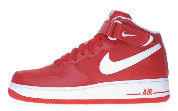 Nike Air Force 1 Mid '07 Black + Sport Red