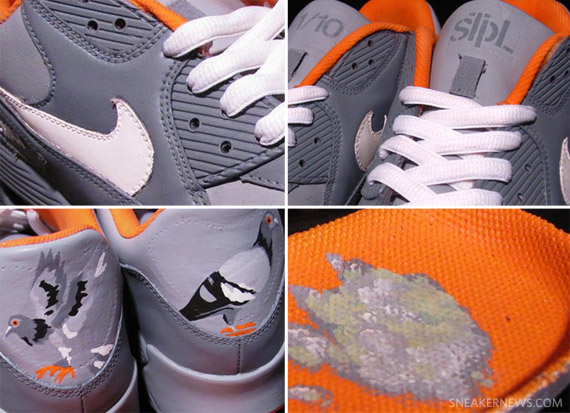 purchase cheap 64848 80a72 Nike Air Max 90  Pigeon  by MizzeeCustoms