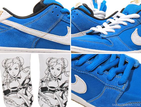 reputable site b6008 d6ab2 Nike SB Dunk Low - 'Chun Li' - Street Fighter Pack ...