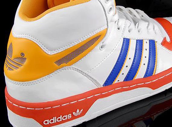 Adidas Originali Metro Atteggiamento Alto Bianco Giallo - Arancio