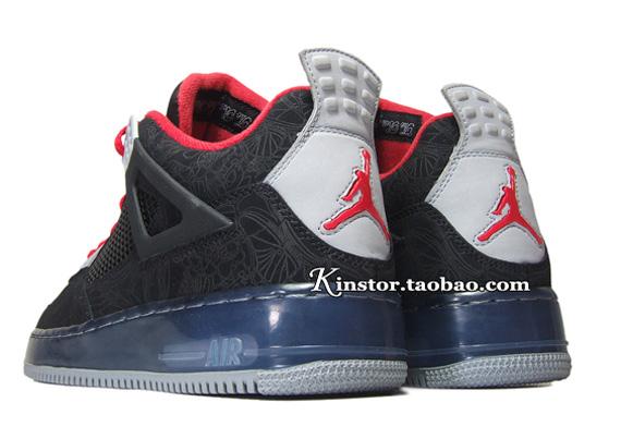 línea de meta Fusión Air Jordan Etiquetas Láser Negro 4 Premier nueva venta online P0FnD