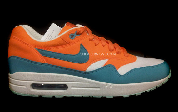 new styles 23c11 de184 Nike Air Max 1  Miami Dolphins  - Summer 2011 - SneakerNews.com