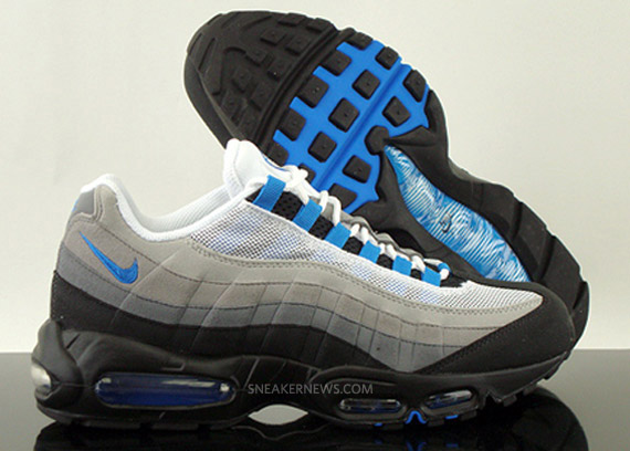 Nike Air Max 95 White And Blue Spark Leoncamier Co Uk