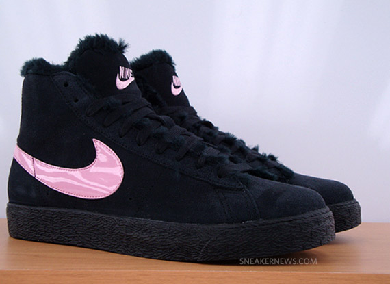 online store fa07a ab87d Nike Blazer Boot GS - Black - Pink - SneakerNews.com