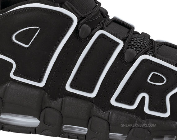 Nike Air More Uptempo - Black - White