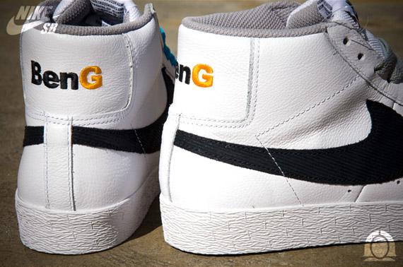 BenG x Nike SB Blazer High White Black Yellow