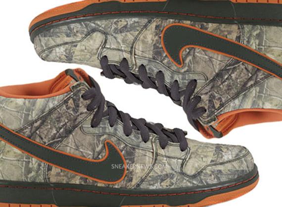 low priced ee37e df480 Nike SB Dunk Mid Premium -  Realtree Camo  - SneakerNews.com