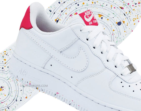 save off e503f b5af5 Nike WMNS Air Force 1 Low 07 – White – Rainbow Speckle