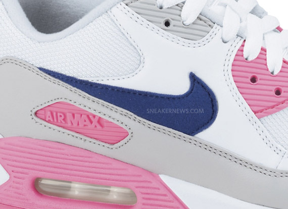 pretty nice 022c6 a7c5a Nike WMNS Air Max 90 – White – Asian Concord – Laser Pink | Available