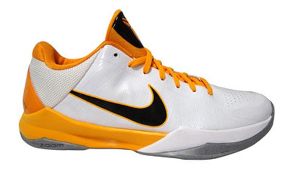 on sale f7c90 e7fca Nike Zoom Kobe V (5) - White - Black - Del Sol - SneakerNews