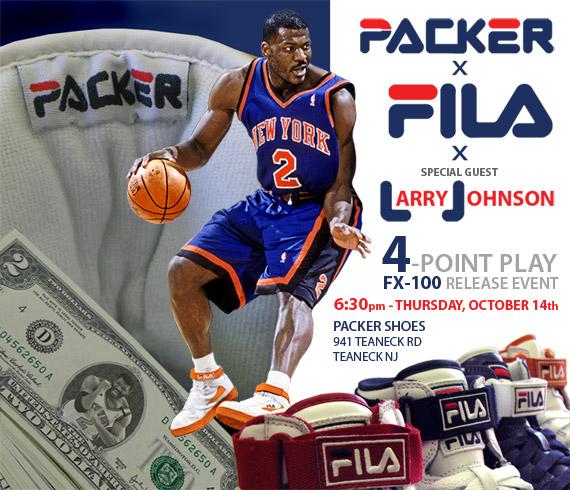 Larry Johnson x Packer Shoes x Fila FX