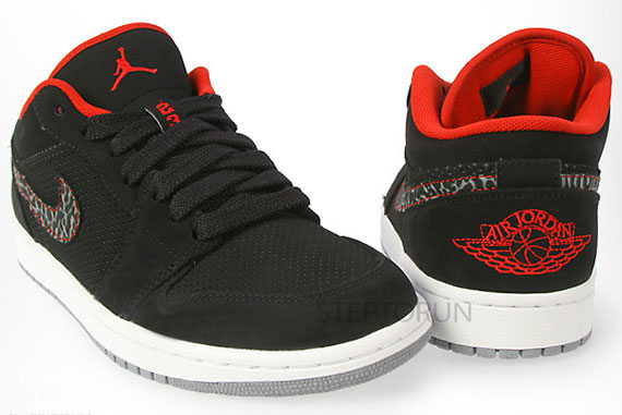 Air Jordan 1 Phat Basse Fac Noir 6s Rouge