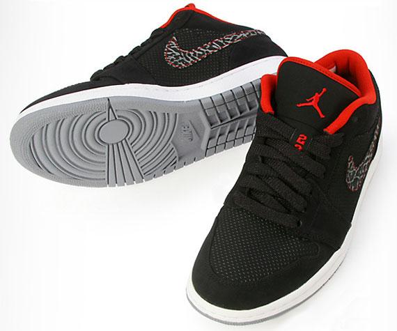 Air Jordan 1 Phat Bajo Varsity Negro Jordans Rojos Z3CMBUW