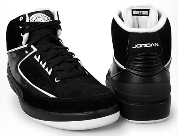 Air Jordan II (2) Retro QF - Black - White | Release Reminder - SneakerNews.com
