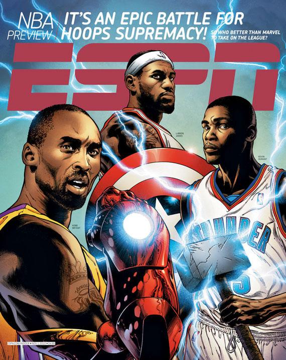 Book Cover Portadas Espn ~ Espn marvel comics nba team covers sneakernews