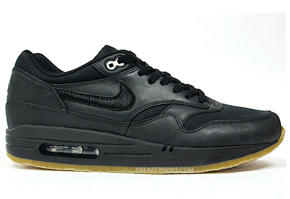 timeless design 63561 df436 Nike Air Max 1 Premium – Black – Crepe Sole | Available ...