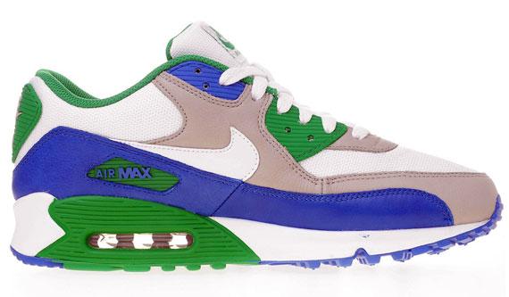 best Nike Air Max 90 White Varsity Royal Lucky Green
