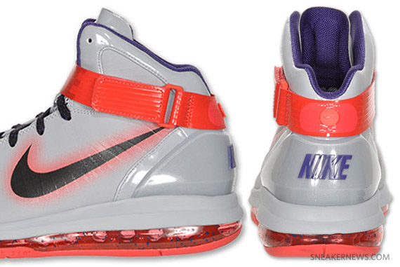 new product 06128 81cc0 Nike Air Max Hyperdunk 2010 – Wolf Grey – Red – Purple