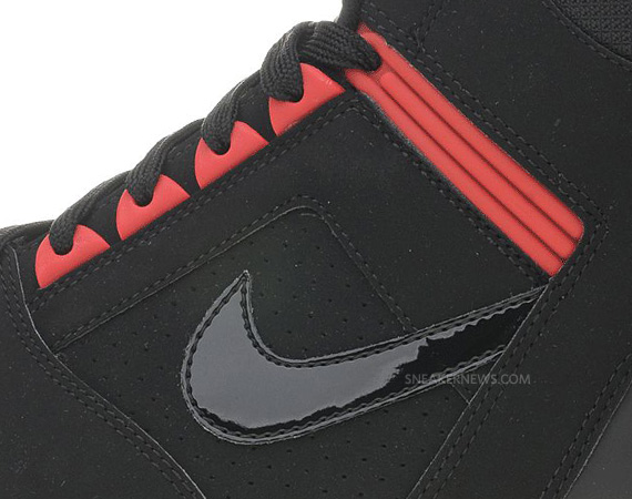 Nike Air Force II High Black Challenge Red White