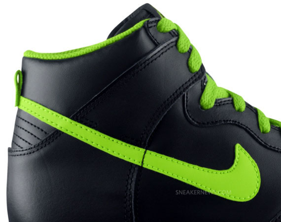 new concept c1637 33e15 Nike Dunk High GS – Black – Electric Green – White