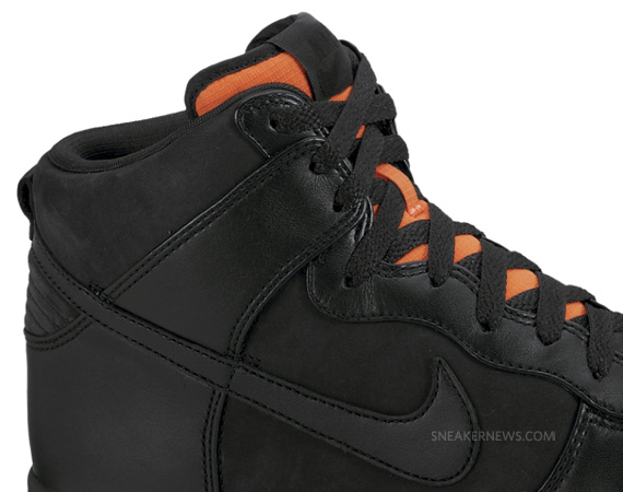Nike Dunk High Premium - Black - Orange