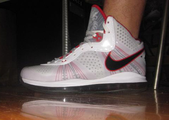 31649d8a6739 Nike LeBron VIII V2 - White - Grey - Varsity Red