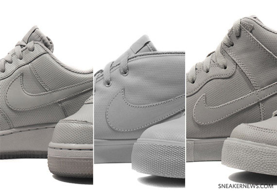Nike Air Force 1 + Dunk High AC + Toki Grey Perf Pack