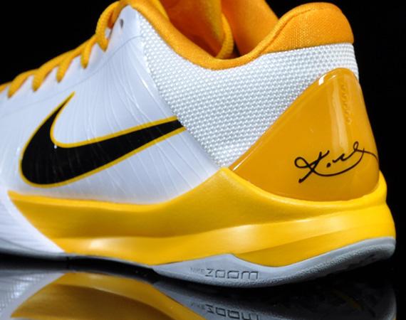 online store 961fa 32b75 Nike Zoom Kobe V (5) – White – Black – Del Sol  Available