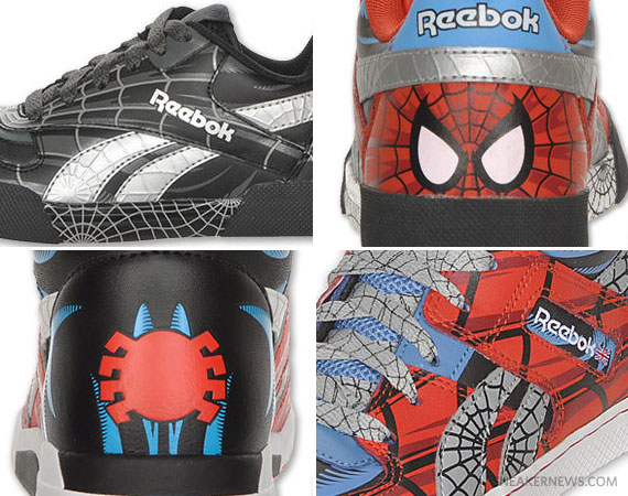 reebok kids spiderman shoes