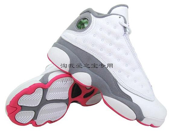 air jordan 13 retro pink and grey