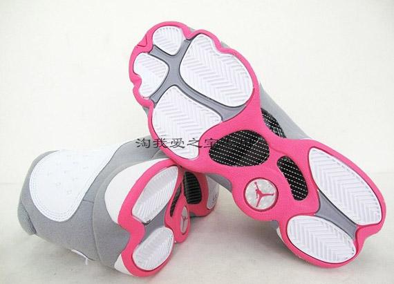 Air Jordan 13 Retro White Grey Pink