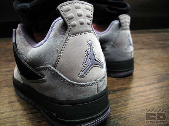 Air Jordan Láser 4 Fusión Fresco Gris Púrpura FLC6hS9px0