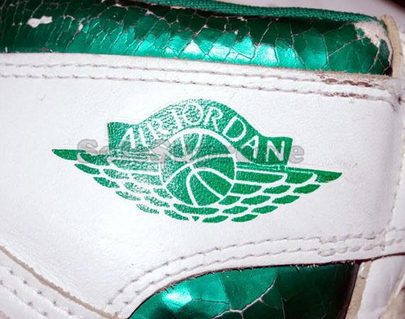 new concept 99456 00a31 Air Jordan 1 High Original – White – Metallic Green ...