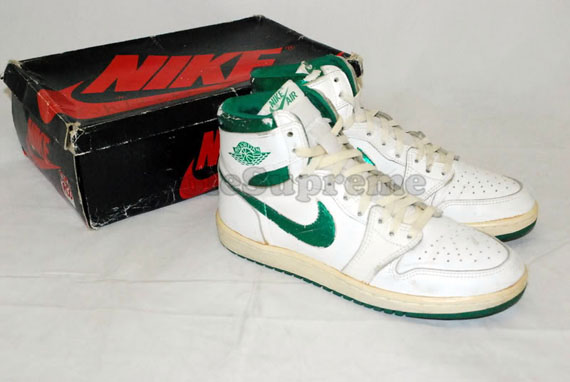 outlet catch online here Air Jordan 1 High Original – White – Metallic Green ...