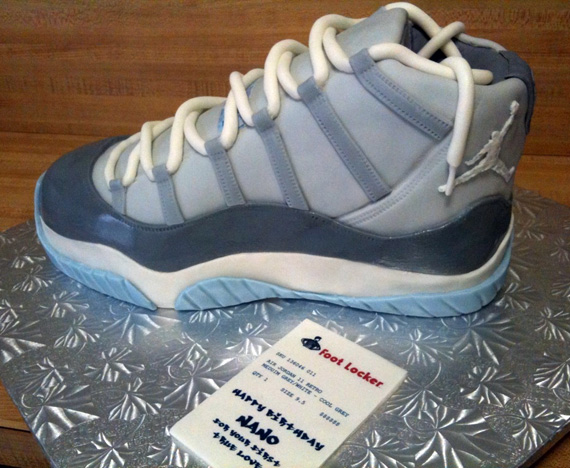 Air Jordan XI Cool Grey Sneaker Cake SneakerNewscom