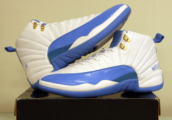 df27602866b3 Air Jordan XII (12) – Carmelo Anthony Home PE - SneakerNews.com