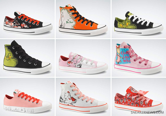 Dr. Seuss x Converse All Star – Grinch Pack