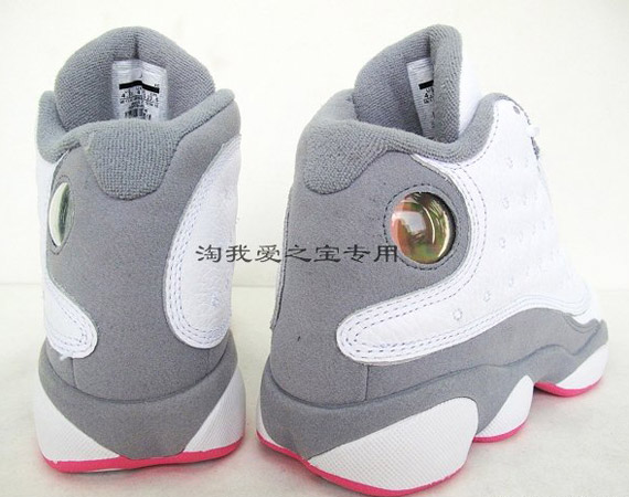 newest collection 09741 069b3 Air Jordan 13 Retro - White - Grey - Pink - SneakerNews.com