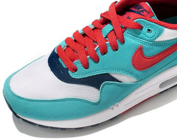 0b46d8fe917dd Nike Air Max 1 - Turquoise - Red - Navy - White - SneakerNews.com