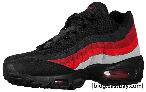 Nike Air Max 95 Black Neutral Grey Varsity Red