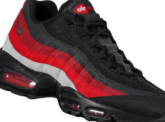 buy online 18af6 3f9b2 Nike Air Max 95 - Black - Neutral Grey - Varsity Red ...