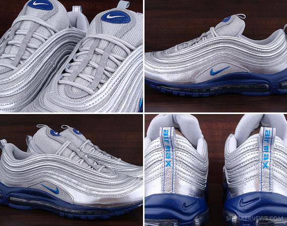 Nike Air Max 97 Metallic Silver Italy Blue